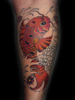 8.Gallery Japanese Tattoo Designs Specially Japanese koi Fish Calf Tattoo Image