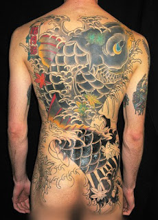 Beautiful Art of Japanese Koi Fish Tattoos With Image Japanese Koi Fish Backpiece Tattoo Designs Picture 5