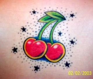 Cherry Tattoo and Star Tattoo Designs