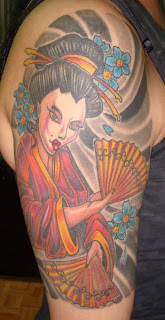 Shoulder Japanese Geisha Tattoo