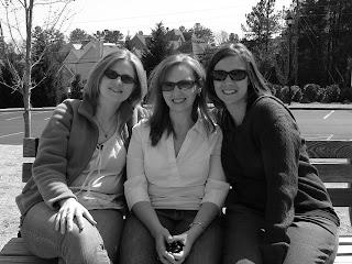 Classic friend shot, in B&W
