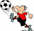 Dibujo de futbolista con el balón