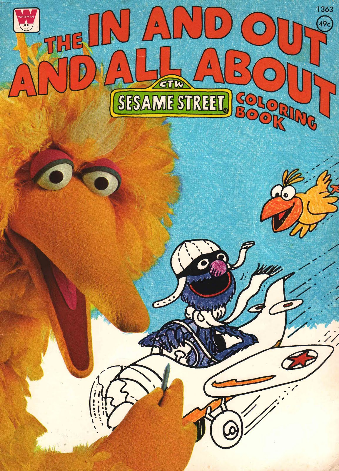 The In And Out All About Sesame Street Coloring Book