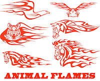 Animal Flames vector