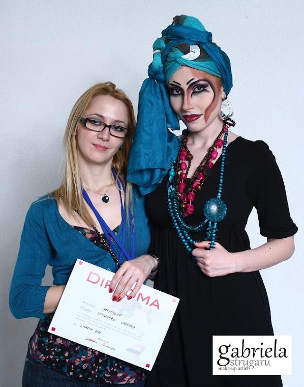 mentiune la concursul de machiaj -LES NOUVELLES ESTETIQES  martie 2010