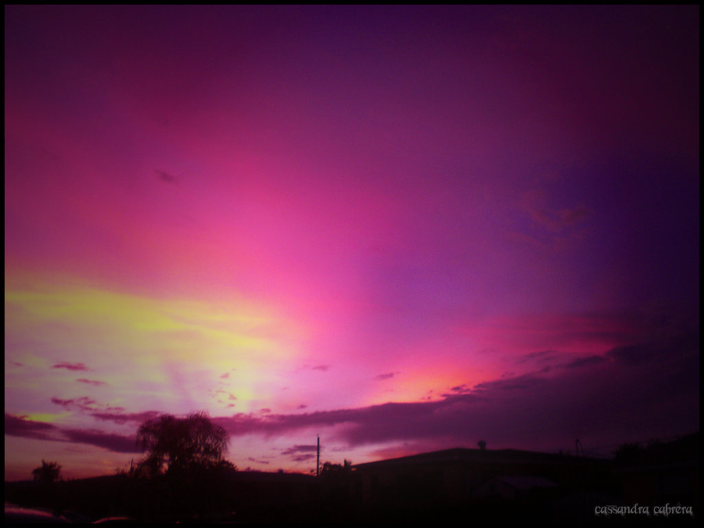 Mariacandelaria purple sunset