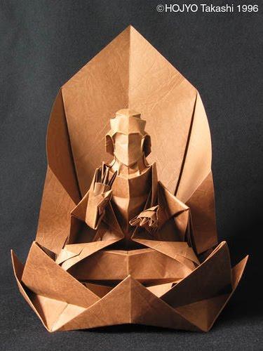 Turquoise Dreams Origami Buddha By Takashi Hojyo