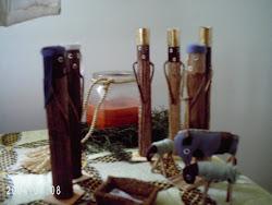 Bedside table nativity scene