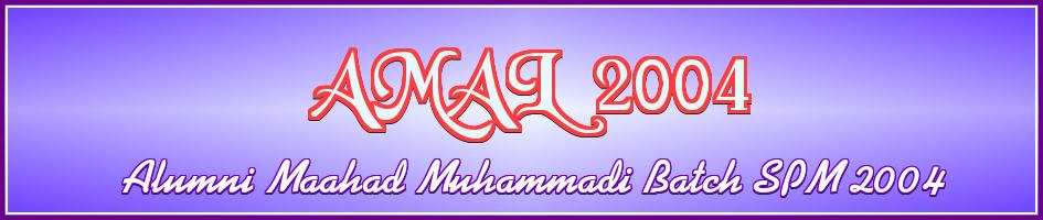 ALUMNI MAAHAD MUHAMMADI BATCH 2004