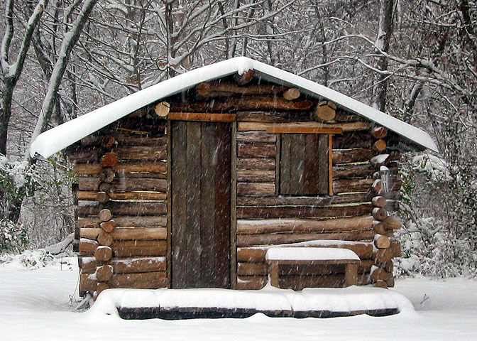 First Big Snow On The Cabin Only About Four Five Inches But Thats Big