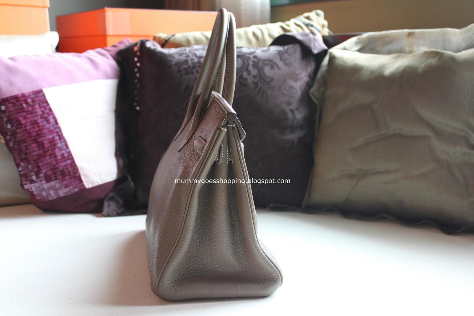 hermes crocodile birkin bag replica - SOLD! Hermes Birkin 30cm Etoupe Clemence with Palladium Hardware ...
