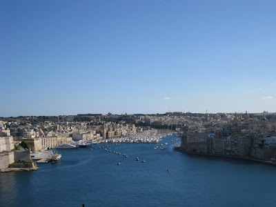 View from Upper barraca gardens, Valetta, Malta