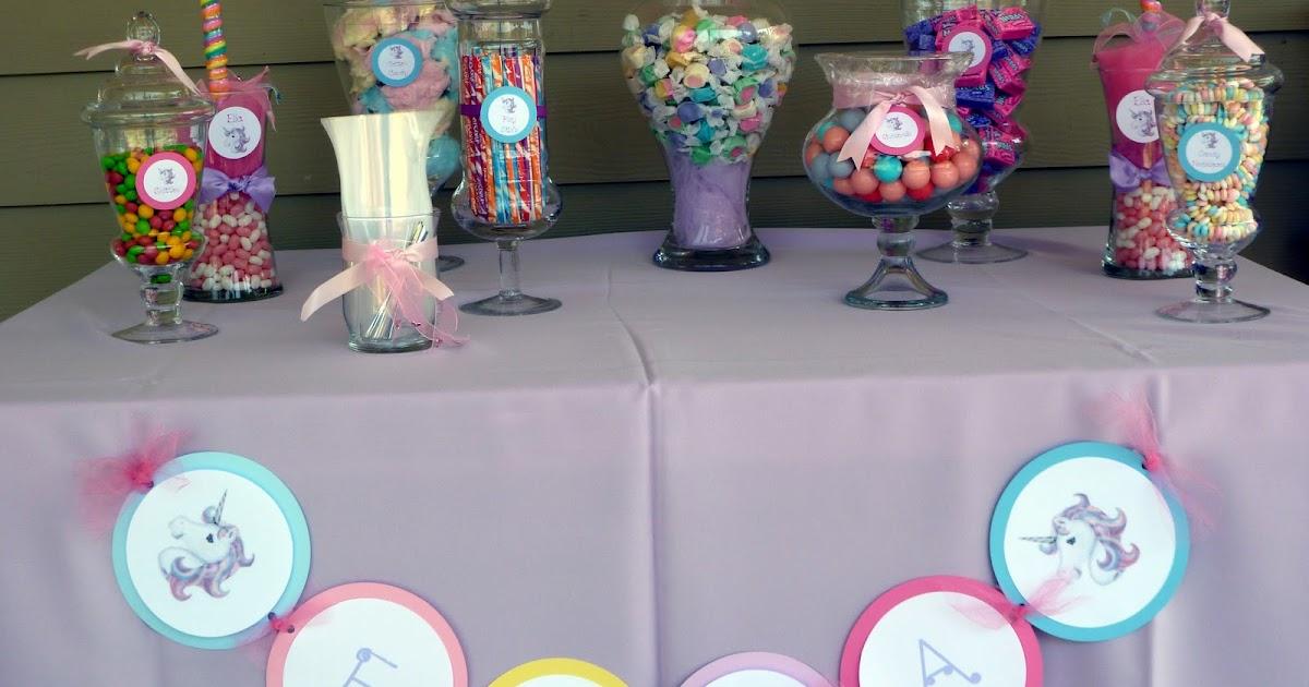 Spoonful Of Sugar Custom Candy Buffets Whimsical Unicorn