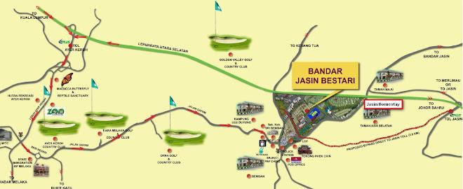 Peta grafik Jasin Homestay
