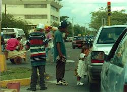 Street view - traffic lights in Managua