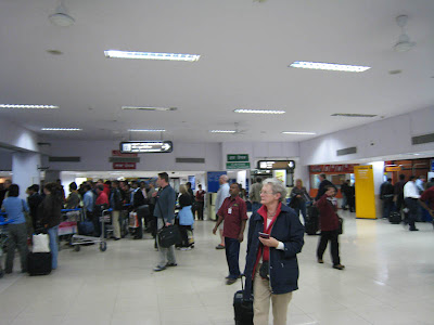 International Terminal and Baggage Claim in Bangalore, India