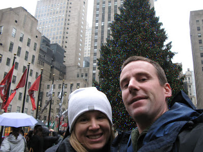 Daytime photo of the Christmas Tree at Rockefeller Center in New York City