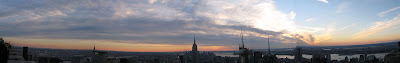 Panoramic View from the Top of Rock at Sunset Christmas Eve Day - Rockefeller Center