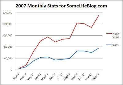 2007 Website Statistics for SomeLifeBlog.com