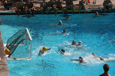 Pepperdine Homecoming 2008 - The men's water polo team playing against the alumni.  Some nice trash talking in this one.