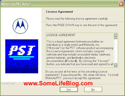 Motorola Phone Support Tool PST Phone Programmer Install Picture 1