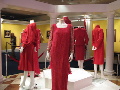 Ronald Reagan Presidential Library's Red Dress Library display