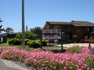 Ragged Point Inn San Simeon on way to Big Sur and Monterey