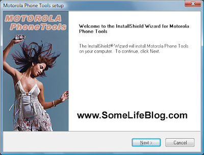 Motorola Phone Tools version 4.5 MPT Installation Guide Windows XP Picture 1