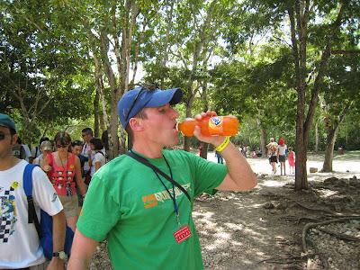 Enjoying a Fanta at Chichen Itza