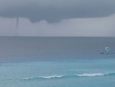 Waterspout off the coast of Cancun, Mexico