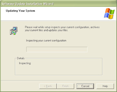 Expect the Windows XP Service Pack 3 installation to take about 30 minutes.
