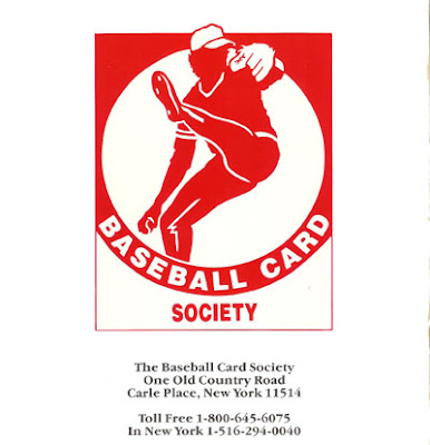 Logo from the Baseball Card Society, founded by Stanley Apfelbaum of First Coinvestors, Inc.