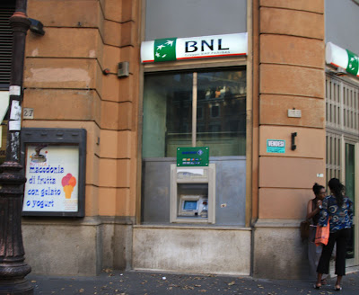 BNP ATM in Rome, Italy part of the Bank of America Partnership?