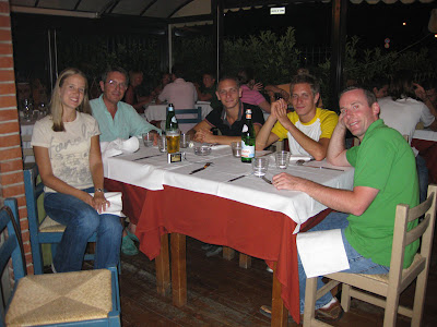 Dinner out with the family on Friday night.  Ashley, Luigi, Matteo, Giulio, myself, and Stefania (taking the picture).