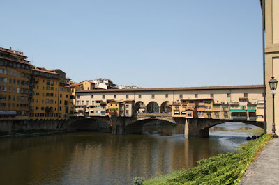 A view of Ponte Vecchio as just before we walked through the stores filled with souvenirs and trinkets.