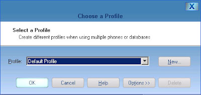 Motorola Phone Tools (MPT) V5 Upgrade 7:  Choose the profile that you want t load for your first time run.