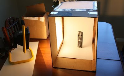 Cheap Macro Studio Light Box / Tent:A quick look at the photo shoot setup for the test picture used for this post.