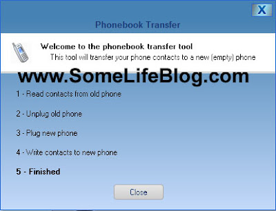 Motorola RAZR Transfer Phonebook: The phonebook completes the transfer to your Motorola RAZR (or similar phone).  Now your new phone is all up-to-date!