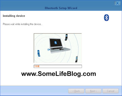 MPT V5 Bluetooth Setup Configuration: Windows / MPT installs the device for Mobile Phone Tools use.  This process took approximately 15 seconds for me.