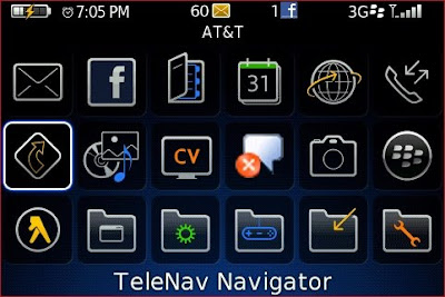 How to download TeleNav GPS Navigator for Blackberry - Installed on Blackberry