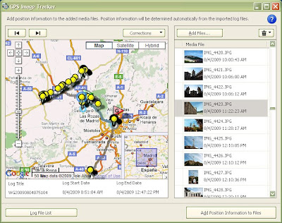 Process of geotagging images with the Sony GPS-CS3KA
