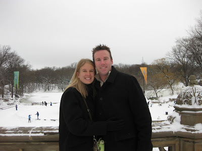 Taking a quick photo by the fountain in front of the Lake in Central Park. While cold, the wind was fairly calm making it quite enjoyable.