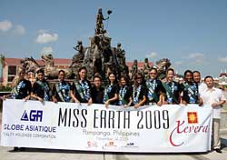 Miss Earth candidates visit GA Xevera Mabalacat