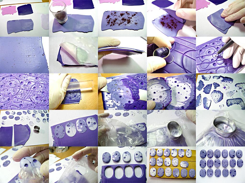 Украшения из полимерной глины своими руками пошагово