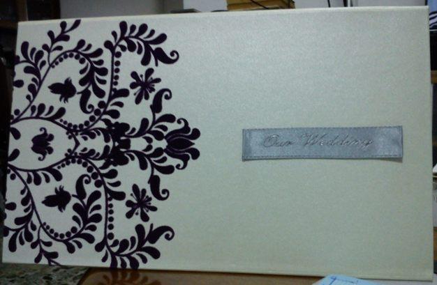 10011 HARDCOVER wedding invitation card