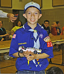 Noah at the Pinewood Derby