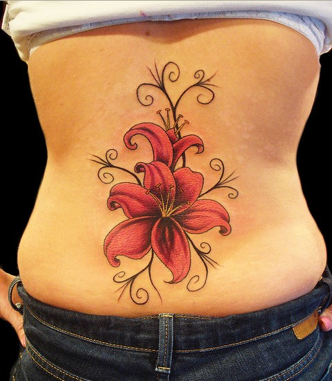 While rose, cherry blossoms, lily, hibiscus, orchid and lotus tattoos might