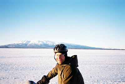 Aaron Fanetti riding the Iditarod Trail in Alaska
