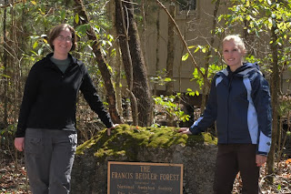 Denise Ecker and Amy Johnson seasonal naturalists at Audubon's Francis Beidler Forest by Mark Musselman