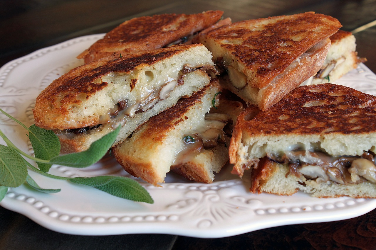 ... , but Sophisticated - Grilled Fontina, Mushroom and Sage Sandwiches